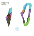 Abstract color map of Palestine vector image vector image
