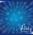 an 4 july independence day greeting card vector image vector image