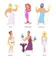 ancient greek mythology the gods and goddesses of vector image