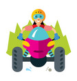 atv girl flat style colorful cartoon vector image vector image