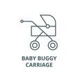 babuggycarriage line icon babuggy vector image vector image