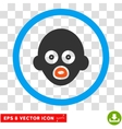 Baby Head Eps Rounded Icon vector image vector image