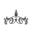 baroque scroll ornament floral pattern antique vector image vector image