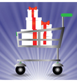 basket for shopping vector image vector image