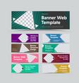 big set templates horizontal color web vector image vector image