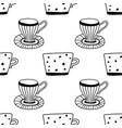 black and white tea or coffee mugs vector image