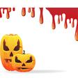 Bloody halloween background vector image