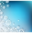 Blue Christmas with white snowflakes EPS 10 vector image