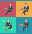 businessman scenes office manager or director vector image