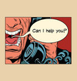 can i help you angry man talking on the phone vector image vector image