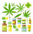 cannabis medicine cartoon vector image