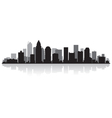 Charlotte USA city skyline silhouette vector image vector image