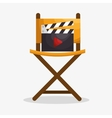 Cinematographic entertainment isolated icons vector image