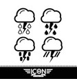 cloud rain sun thunder icon vector image