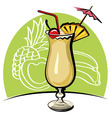 Cocktail pina colada vector image