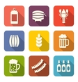 Collection Minimal Icons of Beers and Snacks vector image vector image