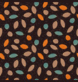colorful stylized cacao pods on textured ground vector image