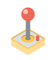 computer video game joystick vector image vector image