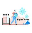covid-19 novel coronavirus vector image vector image