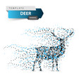 deer dot on the white background vector image vector image