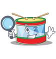 detective toy drum character cartoon vector image vector image