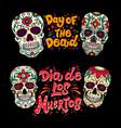 dia de los muertos day dead lettering vector image