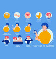 diabetes symptoms health care education placard vector image vector image