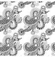 digital drawing black and white ornate seamless vector image