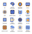 electronics icons set in flat style vector image