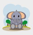 elephant cartoon design vector image vector image