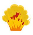 flame and smoke icon isolated vector image vector image