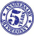 grunge 5 years anniversary rubber stamp