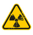 grunge danger radioactive sign isolated on white vector image vector image