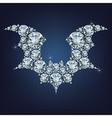 Halloween flying bat silhouettes vector image