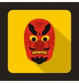 Hannya mask icon flat style vector image