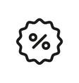 icon discount vector image
