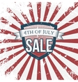 independence day 4th july sale holiday shield vector image vector image