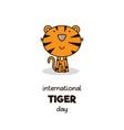 International tiger day vector image