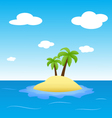 island in the ocean with two palms vector image vector image