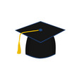 isolated graduate cap icon vector image