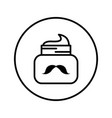jar with caring for mustaches vector image vector image
