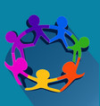 kids representing teamwork and unity vector image vector image