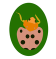 LadyBug on leaf vector image
