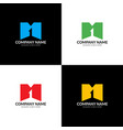 letter m and one logo icon vector image vector image