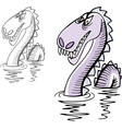 Loch Ness monster vector image vector image