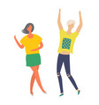 man and woman dancers at disco club happy people vector image vector image