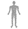 map marker person figure vector image