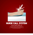 Nurse Call System Button vector image vector image