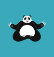panda yoga chinese bear yogi animal zen and relax vector image vector image