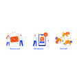 people use gadgets set icons vector image vector image